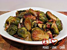 Balsamic Roasted Brussels Sprouts with Maple Bacon
