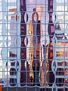 spiegel in de stad