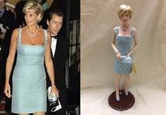 This is a Franklin Mint replica by French designer, Jacques Azagury.  Princess Diana wore this dress to the English National Ballet production of Swan Lake in London June 1997. #Princess Diana dolls