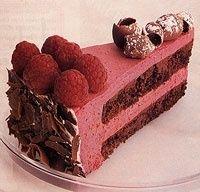 Chocolate Raspberry Bavarian Cake