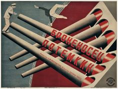 Battleship Potemkin, 1929, from 'The men with a movie poster' on the Eye blog.