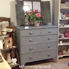Hutson and Grey - Large chest of drawers in a mix of Old Violet and Paris Grey Chalk PaintTM
