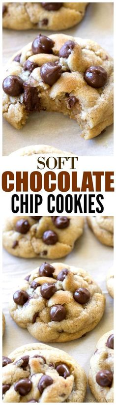 Chocolate Chip Cookies - a tried and true recipe with a secret ingredient to keep them soft! the-girl-who-ate-everything.com