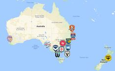 2020 A-League Map Australia Queensland Australia, Western Australia, Fifa, New South, Sports Logo, Tasmania, Auckland, Victorious, Team Logo