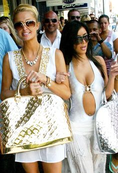 On Jan. 22, Kim Kardashian shared a throwback photo of herself in a Louis Vuitton monokini with Paris Hilton; see it here!
