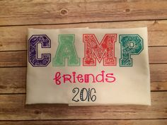 Camp care package autograph pillowcase Young Life Camp, Camp Care Packages, Overnight Summer Camps, Sleepaway Camp, Girl Scout Camping, Mail Call, Church Camp, Camping Packing, Girls Camp