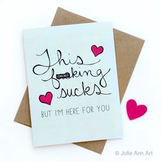Sympathy Card - Divorce Card - I'm Sorry Card - I'm Here For You - Mature by JulieAnnArt on Etsy https://www.etsy.com/listing/229365932/sympathy-card-divorce-card-im-sorry-card