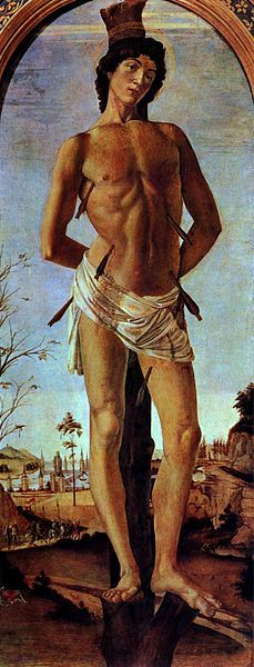 St.Sebastian by Sandro Botticelli~ 1474