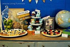 Fabulous fishing birthday party - from dessert table to drink station no detail was left unattended to!