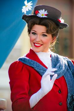 My dream job. Right here. Mary Poppins in Disney World. She has accessories.