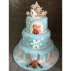 frozen fondant cake - Google Search