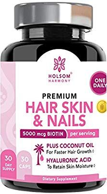 Amazon Com Biotin 5000 Mcg Hair Skin And Nails Vitamins Biotin For Hair Growth With Coconut Oil Vitamins For Hair Growth Nail Vitamins Biotin Hair Growth