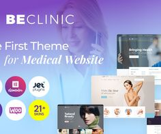 Explore a Bunch of Possibilities Provided by the Medical Clinic WordPress Theme for the Quickest Promotion Or what about multiple websites for different purposes, all at your service? Then the medical WordPress theme is aimed to satisfy all your demands! The widest variety of demo content for any purpose and a starter pack of ready-to-use pre-built page templates is waiting for you. Assure the visitors of your website of the reliability of your medical clinic. Best Free Wordpress Themes, Premium Wordpress Themes, Themes Free, Color Plan, The Visitors, Web Design Inspiration, Dental Care, Wedding Themes, Natural Skin
