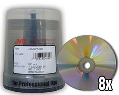 Taiyo Yuden/JVC 8x 4.7GB DVD-R Silver Thermal in Cake Box (100 pack) by Taiyo Yuden/JVC. $32.90. These JVC Taiyo Yuden 4.7GB General Purpose DVD-R are for data and video and come on 50 disc spindle. These disc are compatible with DVD-R burners that use DVD-R media for general purpose. These DVD-R's are are very high quality and reliable. Media Type: DVD-R Native Capacity: 4.7 GB / 120 Minutes Video Format: DVD-R General Purpose (8x) Remarks: JVC Taiyo Yuden DVD-R with Shiny Si...