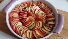 La Fée Stéphanie: Gratin de pommes de terre, tomates et courgettes, sauce tomate aux herbes de provence
