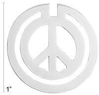 Sterling Elegance Peace Sign Bookmark at The Animal Rescue Site - $6.80