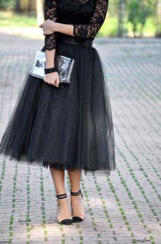 Tulle skirt, theproje2ct.com
