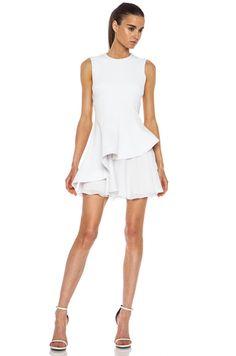 CUSHNIE ET OCHS   Neoprene Dress in White