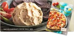 Tastefully Simple Nacho Cheese Ball is extremely versatile. Use it to make Nacho Cheese Pizza, Nacho Pinwheels, Nacho Chicken Pasta, the possibilities are endless.   To order go to www.tastefullysimple.com/web/sraker