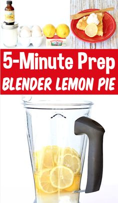 Lemon Pie Recipe - Easy Homemade Filling Blender Pie!  This outrageous dessert is the EASIEST thing you'll ever make!  Just 6 ingredients, a few minutes of prep and you're done!  Go grab the recipe and give it a try this week! Lemon Recipes Easy, Easy Lemon Pie, Lemon Pie Recipe, Blender Recipes, Fruit Recipes, Dessert Recipes, Easy Summer Desserts, Fun Desserts, Easter Desserts