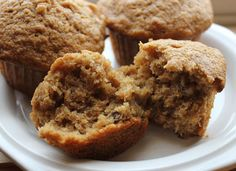 Clean Banana Nut Muffins