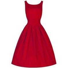 ACEVOG Women's Vintage Audrey Hepburn 50's Inspired Rockabilly Swing... ($26) ❤ liked on Polyvore