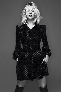 Kate Moss, black & white. @thecoveteur
