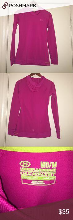 Under Armour ColdGear Running Jacket Pink UnderArmour ColdGear Hooded Running Jacket in size M. Perfect for winter running Under Armour Tops Sweatshirts & Hoodies