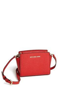 MICHAEL Michael Kors 'Selma - Mini' Saffiano Leather Messenger Bag available at