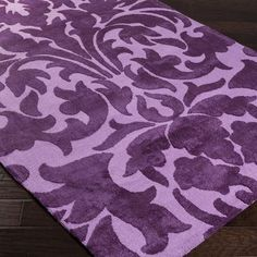 Meticulously Woven Nice Polyester Damask Area Rug x (Purple - x Size x Cool Kids Bedrooms, Purple Area Rugs, Kids Bedroom Furniture, Bright Purple, Trendy Accessories, New Living Room, Cool Rugs, Rugs Online, Colorful Rugs