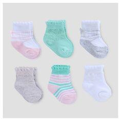 6 Pack Socks Pink/Grey/White - Carter's® 3-12M :Target $7.99