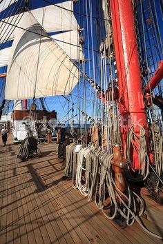 Mainmast, four masted barque Sedov, Tall Ship Race 2009 - Turku - Klaipeda