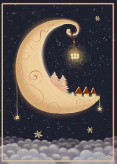 REVISIT katharinegracey/la-bella-luna/ --- Christmas card//could you see Judy doing it in cranberry and ivory?