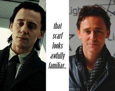 Tom Hiddleston: wardrobe magpie.