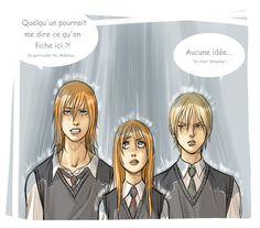 Ron, Hermione, Draco
