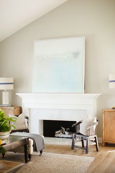 "Interior Design Ideas - ""Popular Paint Color"" (Revere Pewter by Benjamin Moore)"
