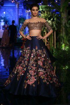 Manish Malhotra #skirt #offshoulder #lehenga