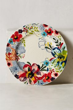 Assiette Sissinghurst Castle Anthropologie en multicolore - Galeries Lafayette