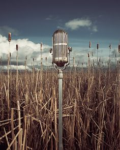 """OBSOLETE DELETE by David Ellingsen, via Behance (old microphone-click to see other neat """"Obsolete Delete"""" photos!)"""