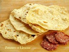 Sfoglie di pane senza lievito ne olio