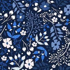 print & pattern blog - marina oliveira, blue floral pattern.