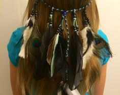A personal favorite from my Etsy shop https://www.etsy.com/listing/229313117/tribal-headband-native-american-feather