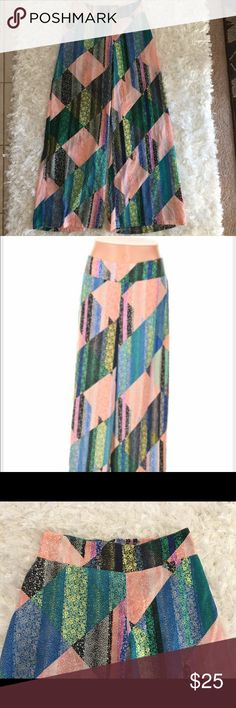 Bar III Wide Leg Pants Super fun and cute Wide Leg Pants. Back waist of the pant is stretchy. Size M L: Approximately 42 in. Color: Various Bar III Pants Wide Leg