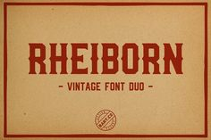 Rheiborn Font by BART.Co Design on @creativemarket