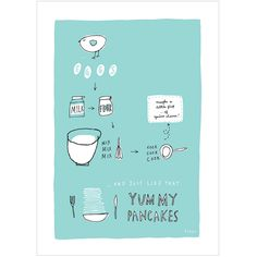How To Make Pancakes - Fine Art Print by FreyaArt on Etsy https://www.etsy.com/listing/70287557/how-to-make-pancakes-fine-art-print