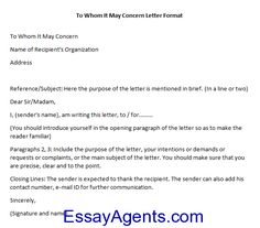 Sample letter sample excuse letter pinterest to whom it may concern letter sample altavistaventures Gallery