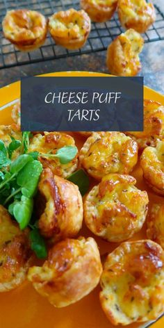 Cheese puff tarts are an entertainers delight. Buttery and flaky pastry filled with a delicious little hot cheese and caraway filling. Super quick to make and they can be frozen ready to bake whenever you want. Mexican Food Recipes, Italian Recipes, Vegetarian Recipes, Cooking Recipes, Healthy Recipes, Healthy Food, Savoury Finger Food, Savory Snacks, Finger Foods