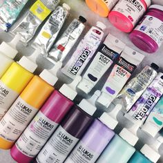 I get a lot of questions asking which paint brands I use and which colors are my favorite. I will be writing a blog post about my preferred art supplies soon and the pros and cons of different brands for me. Keep your eyes peeled