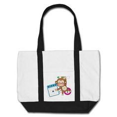Bingo Monkey cartoon tote bag