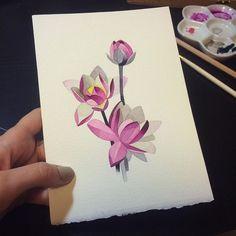 Sasha Unisex watercolour lotus